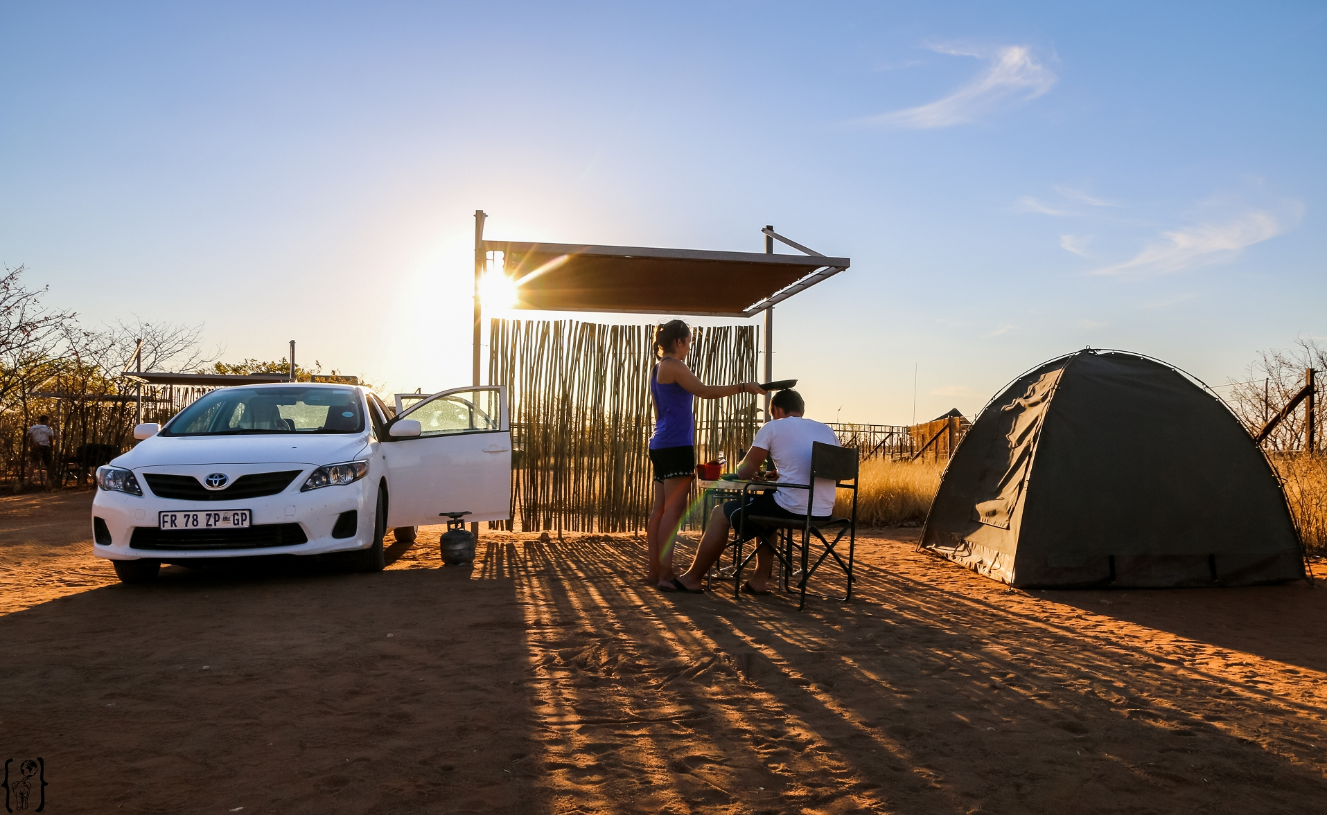 Camping mit Zelt in Namibia
